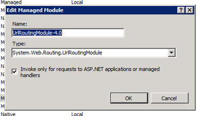 URL Routing Module Properties