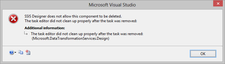 SSIS Designer Error